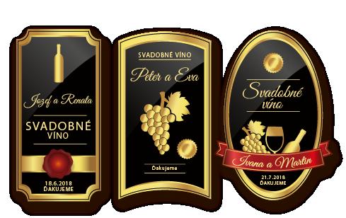 etiekty na svadobné víno