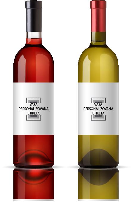 fľaše na svadobné víno